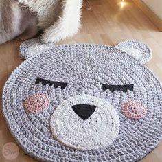 tappeto uncinetto in fettuccia orsetto schemi