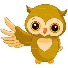 CLIPART BABY OWL | Royalty free vector design