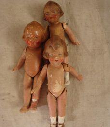 Handpainted bisque dolls from David Met Nicole