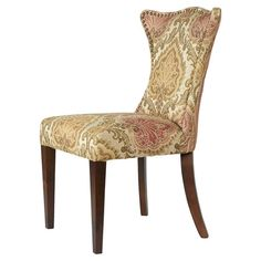 Pull this nailhead-trimmed side chair up to your dining table for a cozy family dinner, or set it in the office as a coffee break retreat.    ...