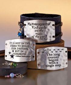 7-Pc. Inspirational Leather Bracelet Set