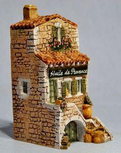 """J. CARLTON DOMINIQUE GAULT """"HUILE DE PROVENCE"""" MINIATURE BUILDING #218279 FRANCE"""
