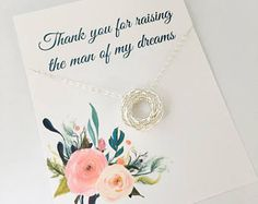 Mother in law Necklace, Mother in law Wedding Gift, Thank you for raising the man of my dreams, Wedding jewelry, Love Knot Necklace