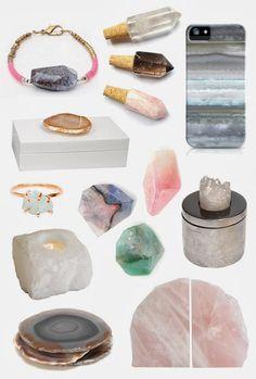 Loving quartz and agate decor!
