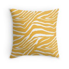 Zebra Animal Print Golden Yellow and White Pattern