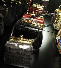 Dolce FW 2014 Mosaic Women Collection the handbags - Exotic leather Agata bags