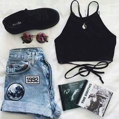 Shop for trendy swimwear, clothing and accessories for women at affordable prices Tumblr Outfits, Grunge Outfits, Grunge Fashion, Look Fashion, Teen Fashion, Womens Fashion, Hipster Fashion, Cheap Fashion, Covet Fashion