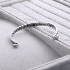 Sunflower mantra band bracelets Long Distance Bracelet Side By Side Or Miles ApartFriends Are Always Close At Heart Friendship Jewelry *** Click picture for even more details. (This is an affiliate link). Long Distance Bracelets, Friendship Jewelry, Best Friend Jewelry, Mantra, Band, Heart, Silver, Money, Ribbon