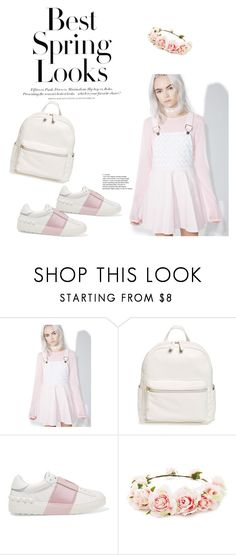 """Baby Pink"" by indiemess1 ❤ liked on Polyvore featuring H&M, Macaron Hombeth, BP., Valentino and Forever 21"