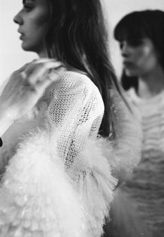Finishing touches @ Shao Yen Chen | Backstage of the 2010 Masters Graduate show at Central Saint Martins photographed by Claire Robertson fo...