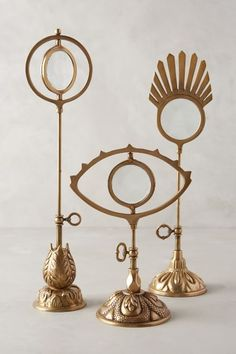 Gilded Magnifying Glass - anthropologie.com