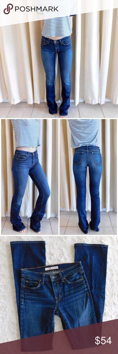 """J Brand Straight Leg Jeans In excellent used condition, there is a small rip shown in the last photo, but it is not visible when wearing the jeans! Extremely flattering fit. Size 25 {Waist: 13"""", rise: 8"""", inseam: 32.5"""". The materials are 98% cotton/2% spandex}. Smoke/pet free home. Ask all questions before buying💓 NO trades!❌🙅🏻 Bundle for a discount!🎉 J Brand Jeans Straight Leg"""