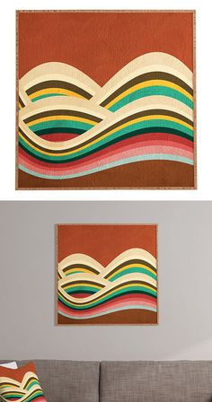 If you were around in the 1960s, you'll probably have a different take on this Wavy Rainbow Framed Wall Art than those from more recent generations. This classic pop art style was found in iconic telev...  Find the Wavy Rainbow Framed Wall Art, as seen in the All for Walls SALE Collection at http://dotandbo.com/collections/all-for-walls-sale?utm_source=pinterest&utm_medium=organic&db_sku=127536