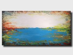 Original Large Abstract painting - 24 X 48 Inches-by Artist JMJartstudio-Above All-Wall art-wall decor - Blue painting-Oil painting- Beach by JMJARTSTUDIO on Etsy https://www.etsy.com/listing/214114313/original-large-abstract-painting-24-x-48
