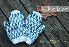 Falling Leaves Mitten pattern by Busting Stitches