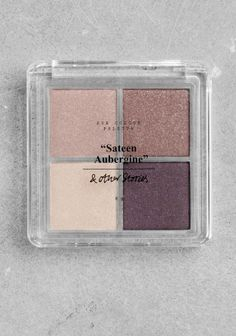 Four colours combined in different textures to help create a complete look day and night.