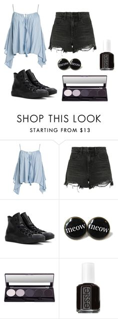 """Untitled #2"" by x-itsalexo-x ❤ liked on Polyvore featuring Sans Souci, Alexander Wang, Converse, Essie, music, emo, Punk, grunge and goth"