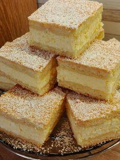 Szuper gyors túrós pite. Az egyik kedvencünk! - Ketkes.com Cornbread, Vanilla Cake, Bread Recipes, Cheesecake, Homemade, Ethnic Recipes, Food, Bakken, Millet Bread