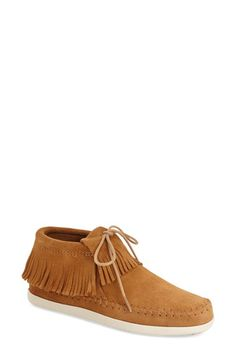 Minnetonka 'Venice' Fringe Moccasin Bootie (Women) available at #Nordstrom