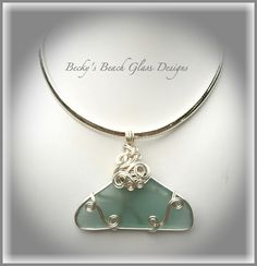 Aqua Burmuda Sea Glass Mega Pendant Necklace, $64.00