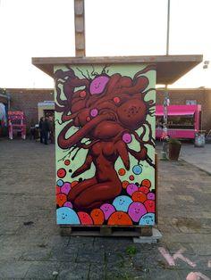 Street art in Bochum, Germany, by artist Fastoni. Photo by Sebastian Hartmann.