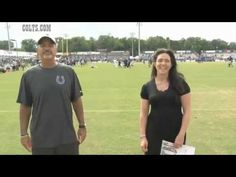 Chuck Pagano and vice chairowner Carlie Irsay-Gordon take ice bucket challenge