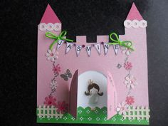 Princess and castle card.