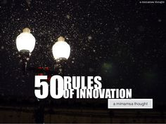 50 rules of innovation