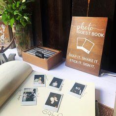 Wedding Book, Diy Wedding, Wedding Photo Guest Book, Polaroid Wedding Guest Book, Guest Book Ideas For Wedding, Wedding Stuff, Dream Wedding, Cute Wedding Ideas, Modern Wedding Ideas