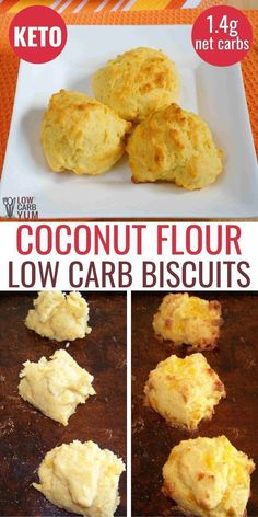 Easy Coconut Flour Biscuits - Low Carb This keto coconut flour biscuits low carb recipe is easy to make. Enjoy these low carb biscuits with dinner or as a tasty keto appetizer. carb recipes for dinner Low Carb Biscuit, Low Carb Bread, Low Carb Diet, Keto Fat, Healthy Low Carb Recipes, Low Carb Dinner Recipes, Keto Recipes, Coconut Flour Recipes Keto, Coconut Flour Baking