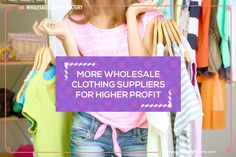 New Blog Post: MORE WHOLESALE CLOTHING SUPPLIERS FOR HIGHER PROFIT  Read more wholesale fashion business tips at http://www.wholesaleclothingfactory.com/blog/  #WholesaleFashion #FashionBlog