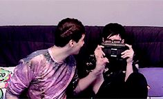 Dan Howell and Phil Lester / danisnotonfire and AmazingPhil that one time that they won donkey kong at the last life