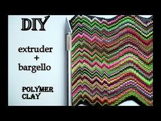(3) DIY|Extruder+Bargello Polymer Clay - YouTube