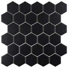 Merola Tile Metro Hex 2 in. Matte Black 10-1/2 in. x 11 in. Porcelain Mosaic Floor and Wall Tile (8.02 sq. ft. / case)-FXLM2HMB at The Home Depot