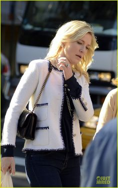 DAYWEAR : Cate Blanchett: quilted bag ... All very Chanel