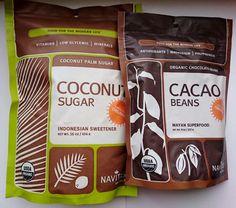 Кокосовый сахар и какао бобы Navitas плюс рецепт домашнего шоколада - Радость души и тела