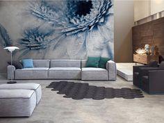 Carta da parati panoramica con motivi floreali CRAZY FLOWERS Collezione Inkiostro Bianco by Inkiostro Bianco design Ink Lab
