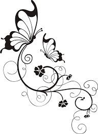Simple flower designs black and white free download clip art butterflies and flowers bildergebnis fr glas gravieren vorlagen kostenlos mightylinksfo