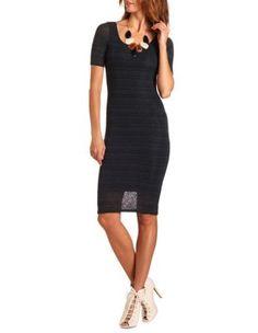 cutout back hacci midi dress