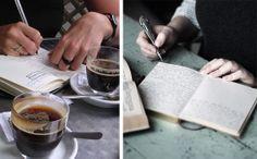 Notebook. #secret #goals #resolution #drawing #writing #coffee