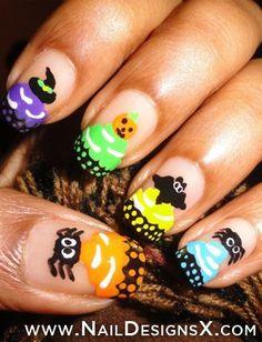 hallowen nail art » Nail Designs & Nail Art