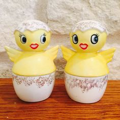 CHICK EGG CUPS and SALT And PEPPER SHAKERS
