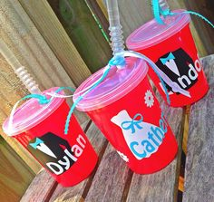 Flower Girl/Ring Bearer Kid's Cups (read descrip for pricing) by ThePinkPolkaDotCC on Etsy https://www.etsy.com/listing/179770800/flower-girlring-bearer-kids-cups-read
