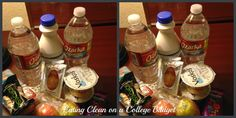 Eating Clean on a College Budget: clean eating traveling and last minute shopping bag. Find out how to eat healthy on the go! #eatclean#healthycollege#healthy