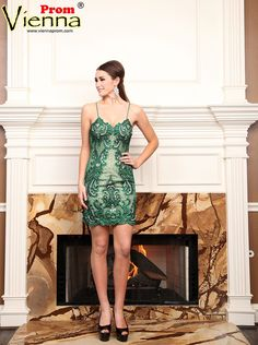 Vienna V-6502 Homecoming Dress 2015