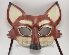 Fox Mask Masquerade Mask Masked Ball Animal by LucyLovesLeather