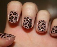 cheetah nails.
