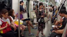 Znalezione obrazy dla zapytania people in subway