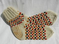 Hand Knitted Wool Socks Very Warm US Seller Foot Measures 9 1 2"