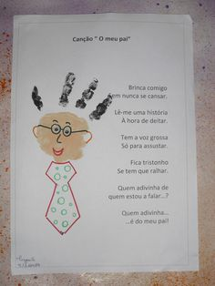 Risultati immagini per dia do pai murais Projects For Kids, Diy For Kids, School Projects, Crafts For Kids, Father Birthday, Pre K Activities, Footprint Crafts, Handprint Art, Dad Day